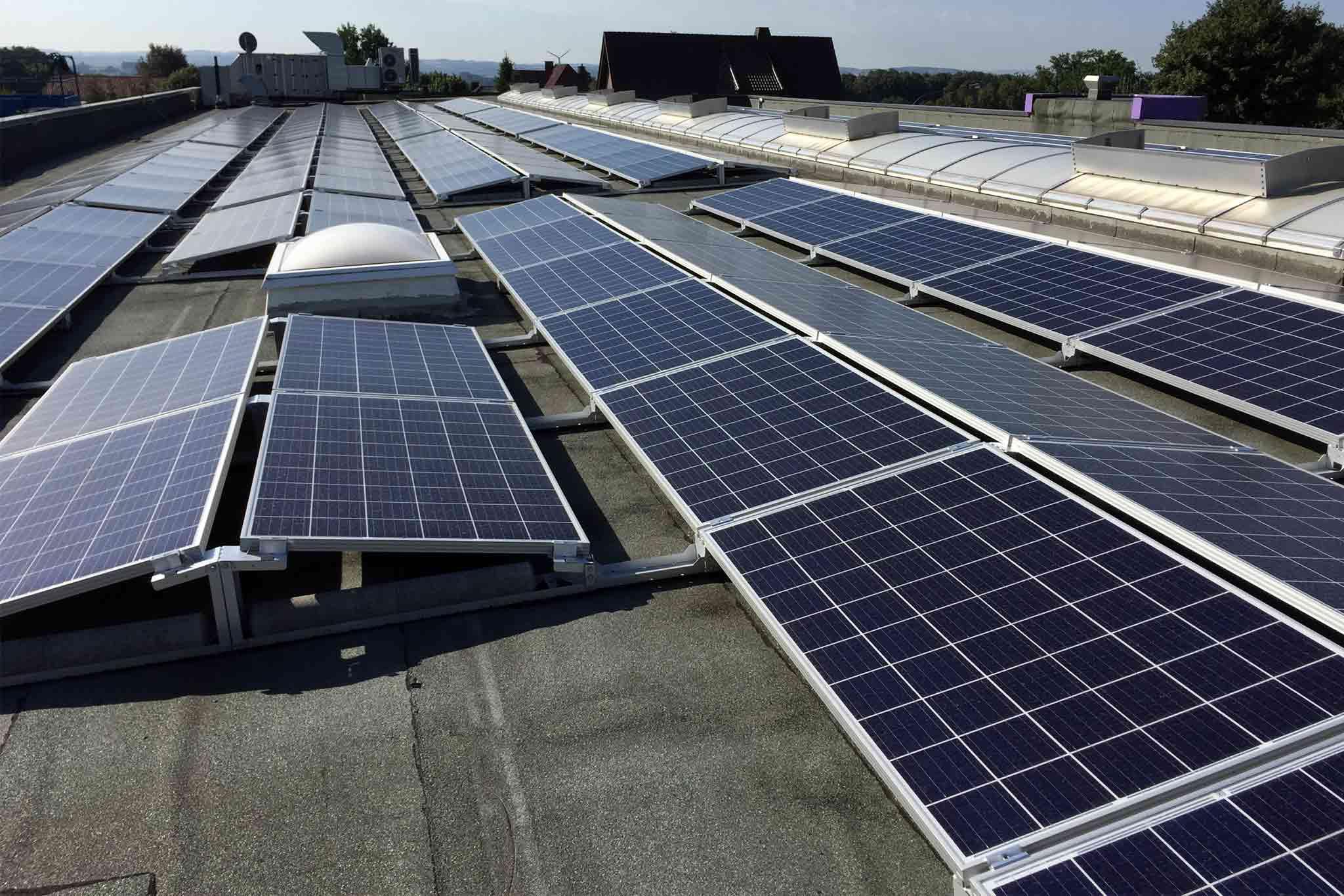 Photovoltaikanlage mit Ost-West-Ausrichtung