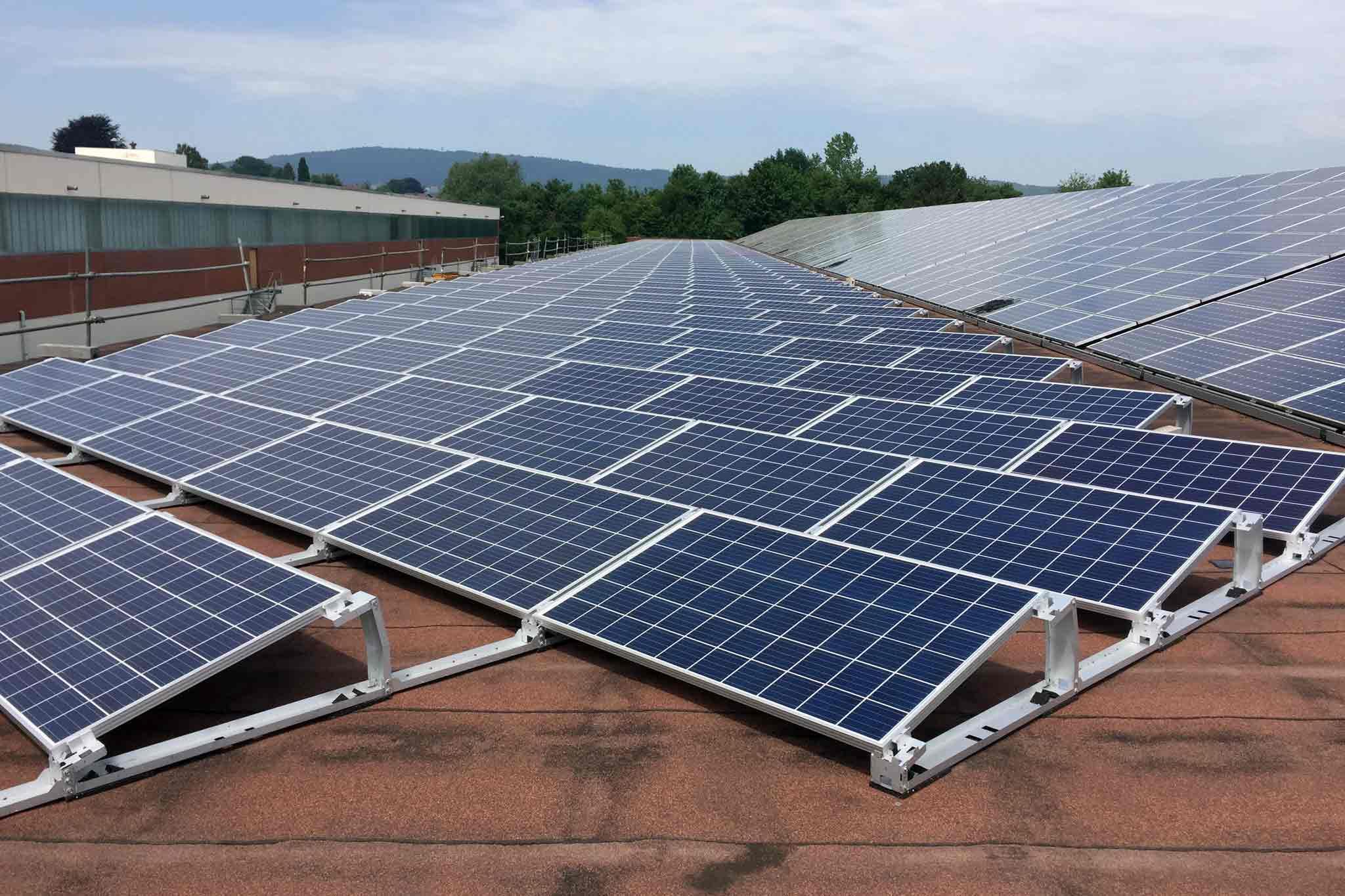 Photovoltaik-Anlage mit Süd-Ausrichtung